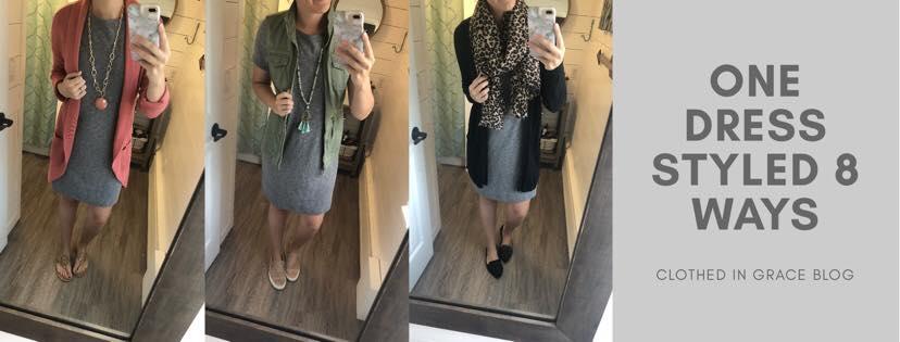 One Dress Styled 8 Ways